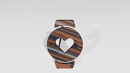 smart watch circle heart