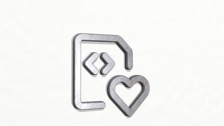 file code heart