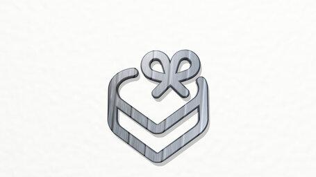 love gift box heart