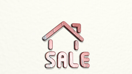 real estate sign house sale