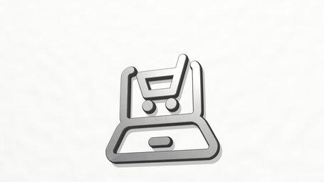 e commerce cart laptop