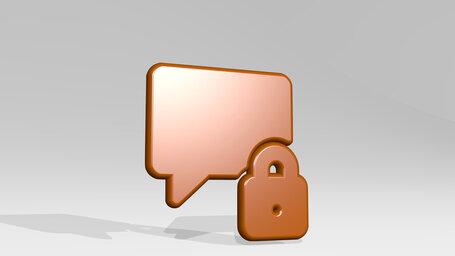 messages bubble square lock