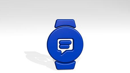 smart watch circle text