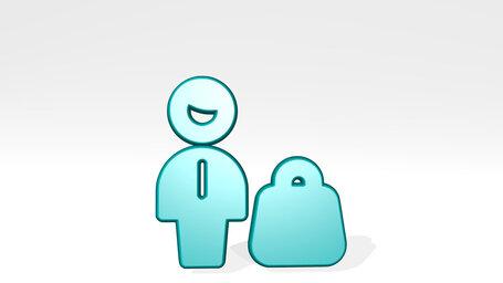 single man shopping bag