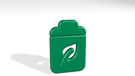 renewable energy battery leaf