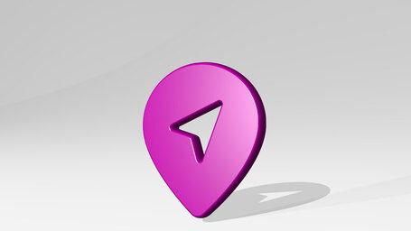 style three pin direction arrow