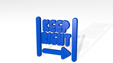 road sign keep right  alternate