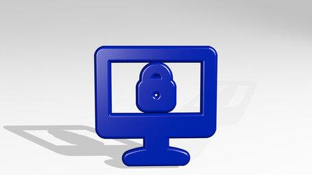 desktop monitor lock