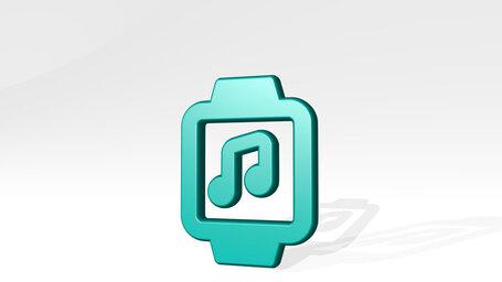 smart watch square music alternate