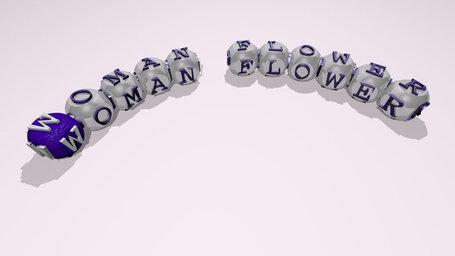 woman flower