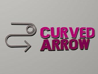curved arrow