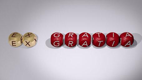 How do you use ex gratia in a sentence?