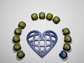 heart with grid