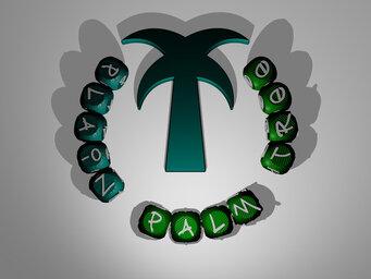 plain palm tree