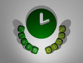 plain clock