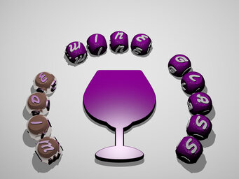 wide wine glass