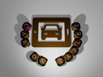 car on tablet