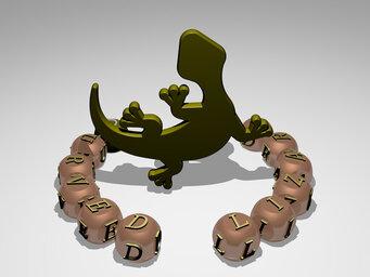 curved lizard