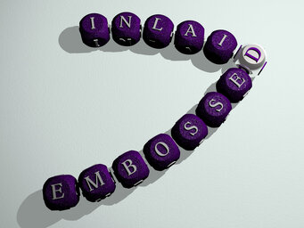 embossed inlaid